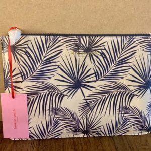 Fenella Smith Navy Palm Pouch