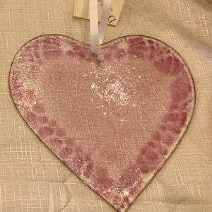 D & J Glassware Fused Glass Heart, Lavender