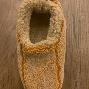 Snoozies Mens Two Tone Slippers, Caramel, Large