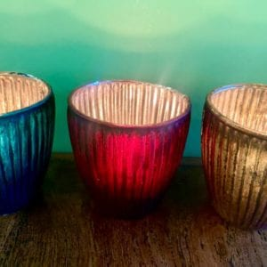 Grand Illusions Gold Ribbed Votive