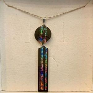 Pixalum Central Park Aluminium Pendant on 925 silver chain