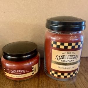 Candleberry Warm Apple Cider Candle Lg