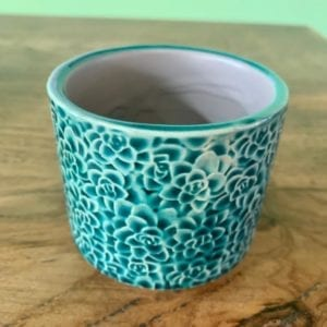 Gisela Graham Teal Succulents Plant Pot (Small)