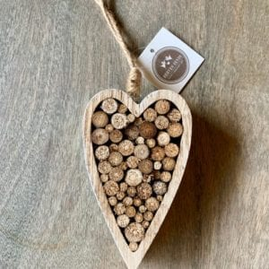 Heaven Sends Wooden Log Heart Hanging Decoration