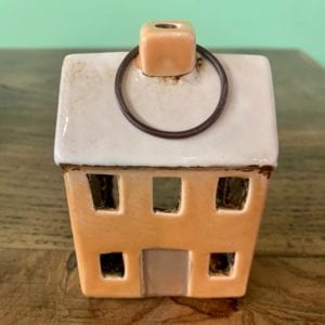 Heaven Sends Ceramic House T-Light Holder (Toffee)