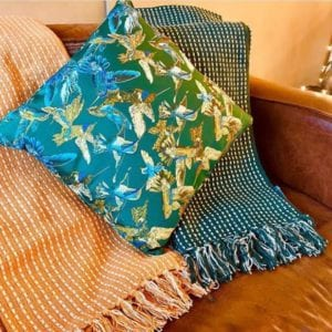 Gisela Graham Green Throw