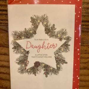 Dandelion Cards 'Christmas Fab Daughter'