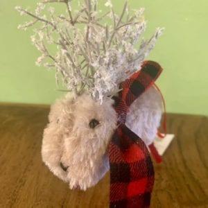Heaven Sends Reindeer w Tartan Scarf