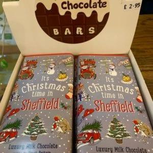 Love Your Nation Sheffield Christmas Chocolate Bar