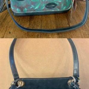 Hi-Di-Hi UN02 Petrol Green Coral Design Handbag, 20x26x11cm
