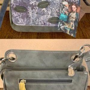 Hi-Di-Hi UN03 Grey Coral Design Handbag, 20x26x11cm