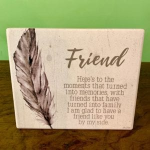 Splosh Spirit 'Friend' Plaque