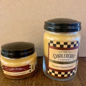 Candleberry Bourbon Roasted Pecans Candle Lg