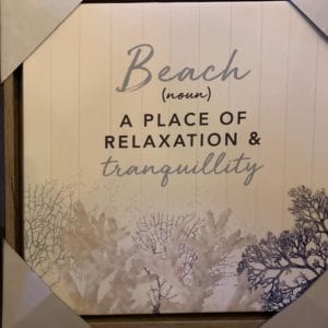 Hamptons Canvas Frame 'Beach'