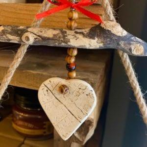 Tracey Mawson Ceramic Driftwood Hearts