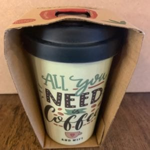 Blue Eyed Sun 'Need Coffee' Eco Bamboo Cup