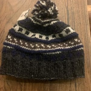 Black Yak Bobble Hat (Blue/Gray)