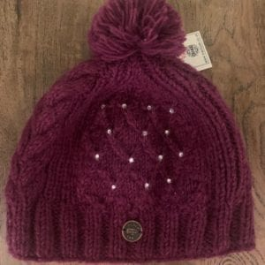 Black Yak Bobble Hat Trellis