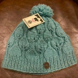 Black Yak Bobble Hat 'Heather Leaf' (Green)