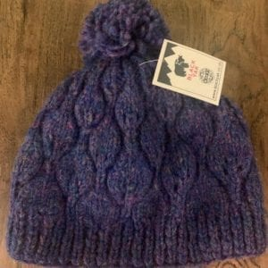 Black Yak Bobble Hat 'Heather Leaf' (Purple)