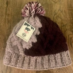 Black Yak Bobble Hat (Plum/Pink)