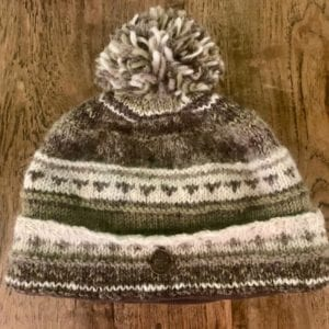 Black Yak  Bobble Hat 'Naya' Green