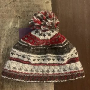 Black Yak  Bobble Hat 'Naya' Red