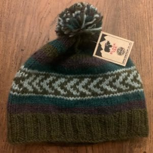 Black Yak Bobble Hat (Green)