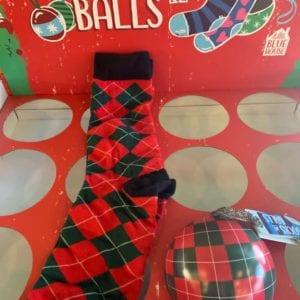 Hatley HOLIDAY ARGYLE Men's Socks in Bauble