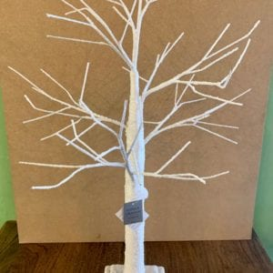 Gisela Graham White Snow Covered Twig Tree