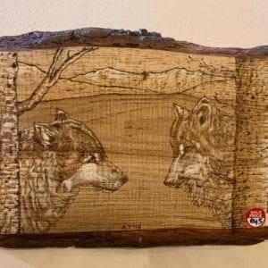 Inspyre Art Plaque: 2 Wolves