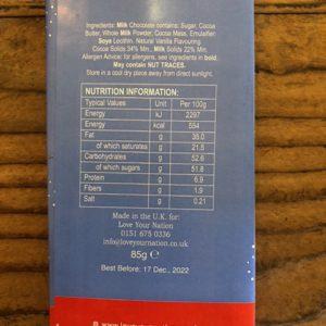 Love Your Nation Sheffield Christmas Cracker Chocolate Bar