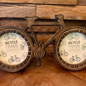 Transomnia Wooden Bicycle Dual Photo Frame