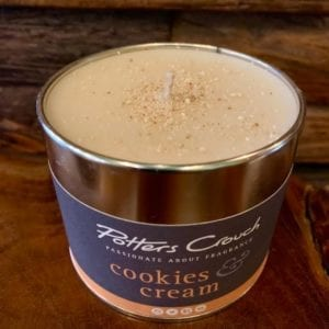 Potters Crouch Cookies & Cream Scented Candle in a Tin