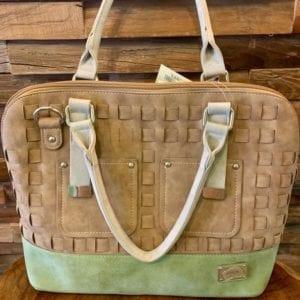 Hi-Di-Hi League Brown, Olive & Grey Handbag