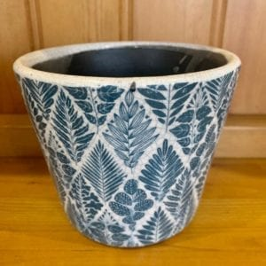 Grand Illusions Old Dutch Style Teal Plant Pot – Multi Leaf