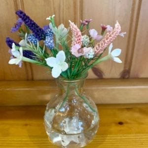 Grand Illusions Dotty Glass Stem Vase