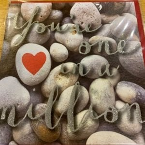 Blue Eyed Sun Valentines Day Card – One In A Million