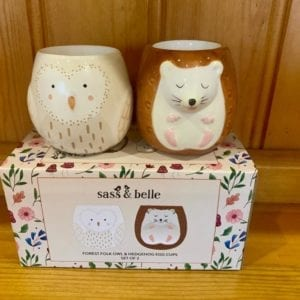 Sass & Belle Forest Folk Owl & Hedgehog Egg Cups – Set of 2