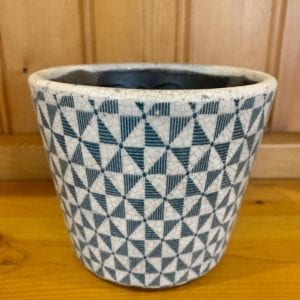 Grand Illusions Old Dutch Style Teal Plant Pot – Windmill