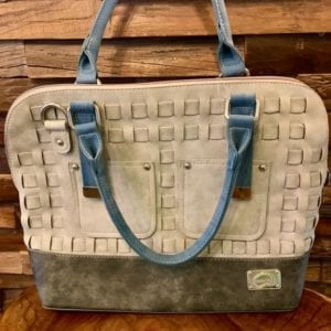 Hi-Di-Hi League Grey, Black & Blue Handbag