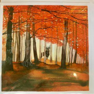 Sam Cannon Art – BE STILL AND LISTEN Card