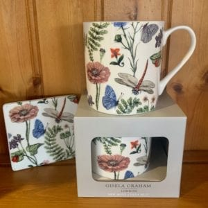 Gisela Graham Bone China Flora Fauna Mug