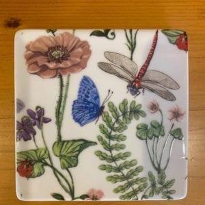Gisela Graham Flora Fauna Ceramic Coaster