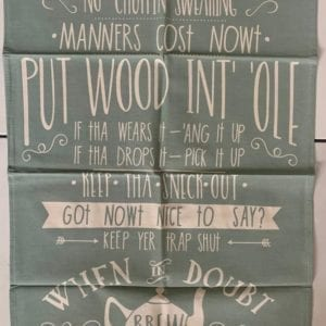 Wotmalike Yorkshire House Rules Tea Towel