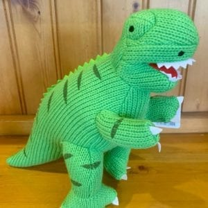Abound Best Years Knitted Green T-Rex Soft Toy