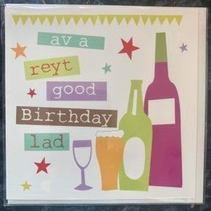 Whotmalike 'Av A Reyt Good Birthday Lad – Yorkshire Birthday Card
