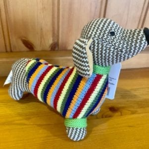 Abound Best Years Knitted Sausage Dog Rattle