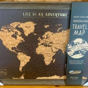 Splosh: World Map Travel Board