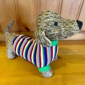 Abound Best Years Knitted Sausage Dog Soft Toy